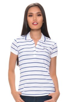 Harga Bobson Ladies' Stripes Polo Tee (White)