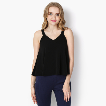 Harga GTW Fab Flared Slip Top (Black)