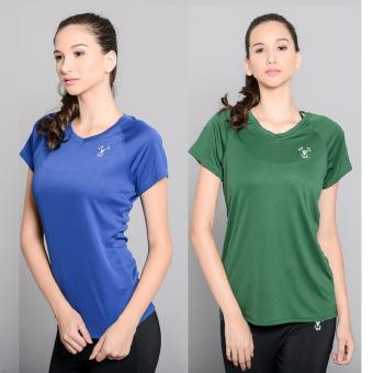 Harga BUY 1 TAKE 1 Outperformer Active V Neck Shirt with Extra Stretch and Dryperform Technology (Royal Blue and Dark Green)