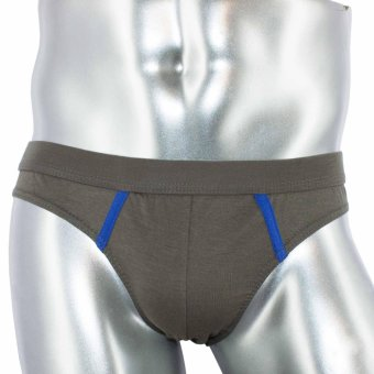 Logan 3pc Regular Fit Cotton Stretch Brief DSN# 9955-2 by Le Brian (Light Gray-Silver Lake Blue-Major Brown) Price Philippines