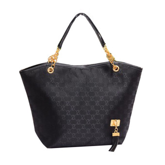 Harga Hot Sale Women Leather Handbag Lady Shoulder Bags(black)