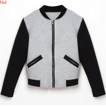HengSong Women Ladies Autumn Patchwork Cotton Zipper Casual Coats Jackets Price Philippines