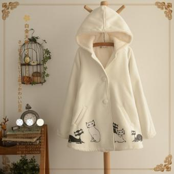 Bear Fashion Woman Lady Student Female Autumn Winter Clothes Animal Cat Korean Style Coats - intl Price Philippines