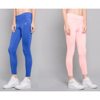 Harga BUY 1 TAKE 1 Outperformer Casual Yoga Leggings with Extra Stretch and Dryperform (Blue Allure and Pink Bow)