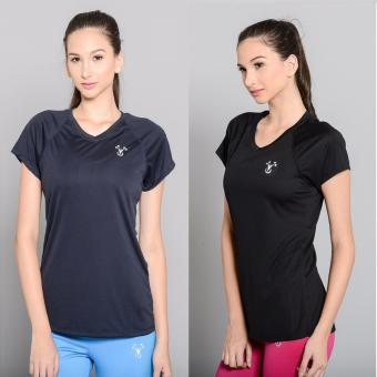 Harga BUY 1 TAKE 1 Outperformer Active V Neck Shirt with Extra Stretch and Dryperform Technology (Ebony and Navy)