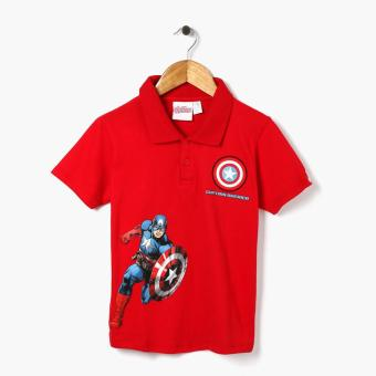 Harga Marvel Avengers Boys Captain America Polo Shirt (Red)