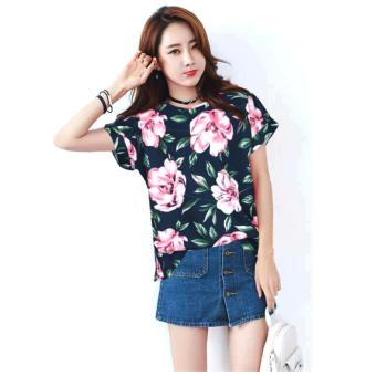 Fashionista Ji-Eun Women Korean Floral Blouse Price Philippines