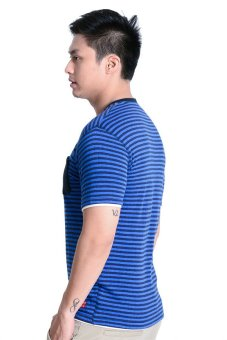 Harga Bobson Regular Fit Stripes Tee (Blue)