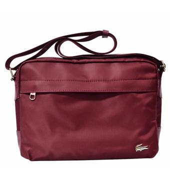 Harga Lacoste Horizontal Messenger Bag (Mulberry)
