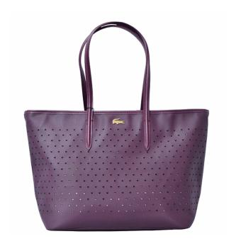 Harga Lacoste Chantaco Perforated Pique Tote Bag (Maroon)