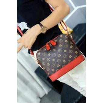 Harga Korean Handbag/Sling Bag(Coffee/Red)