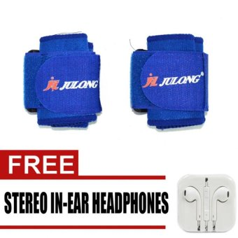 Harga Julong MT-716 Fitness Gear Wrist Support (Blue) with free Stereo In-Ear Headphones