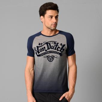 Harga Von Dutch S/S Raglan Top (Dk Heather Gray)