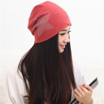 LALANG New Autumn Fashion Baggy Beanie Hat with Star Bonnet Head Cap Red Price Philippines