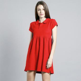 BLKSHP Pouf Polo Dress (Red) Price Philippines