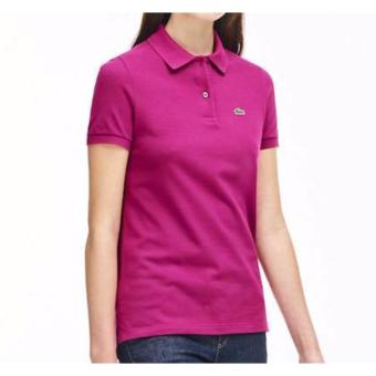 Harga LACOSTE CLASSIC POLO SHIRT FOR WOMEN (FUCHSIA)