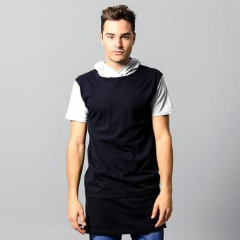 BLKSHP Long Line Tee with Contrast Hood and Sleeves (White) Price Philippines