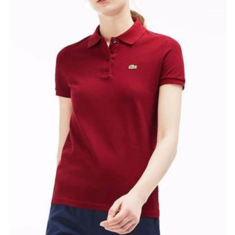 Harga LACOSTE CLASSIC POLO SHIRT FOR WOMEN (MAROON)