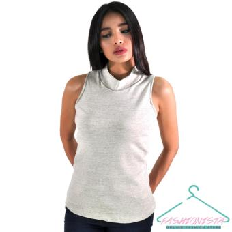 FASHIONISTA Women's Fashionable High Neck Sleeveless Tee Price Philippines