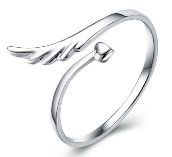 Harga Jetting Buy 925 Silver Plated Heart Wing Opening Ring