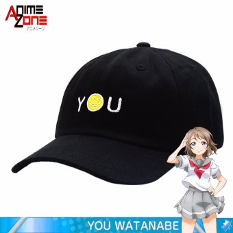 Harga ANIME Love Live! School Idol Sunshine YOU Yousoro Unisex Snapback Cap (Black)