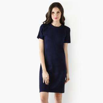 Harga SM Woman Knit Shirt Dress (Blue)