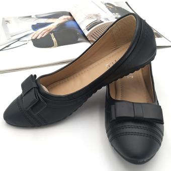 Fantasy Mna Ladies Flat Pointed Doll Shoe With Ribbon 986-24 (black) Price Philippines