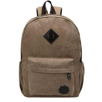 Cyber New Fashion Men Backpack Rucksack Canvas Travel Camping Backpack ( Coffee )(OVERSEAS) - intl Price Philippines