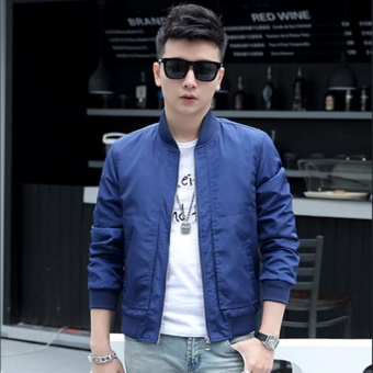 Fashionista Men's Outdoor Bomber Jacket (Blue) Price Philippines
