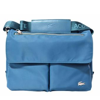 Harga Lacoste James Zip Messenger Bag (Ice Blue)