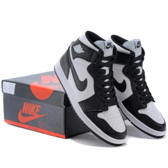 Basketball Shoes for Jordan 1 OG Black White AJ1 - intl Price Philippines