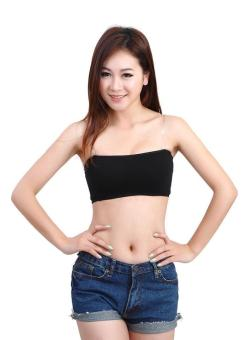 Harga High Quality Store New Strapless Crop Top Vest Bra Bandeau Boob Tube brassiere