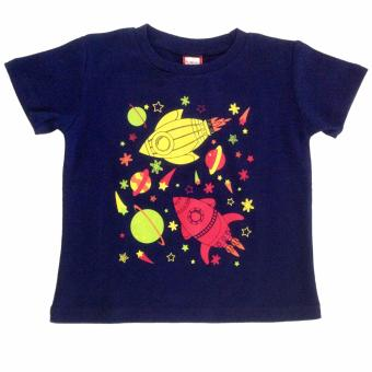 Harga Outer Space Navy Blue Kids Shirt