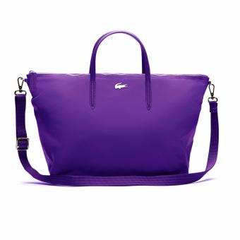 Harga Lacoste L.12.12 Concept Nylon Zippered Tote Bag - Horizontal (Purple)