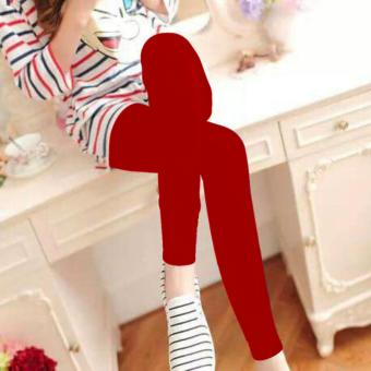 Fashionista Fashionable Plain Leggings (Red) Price Philippines