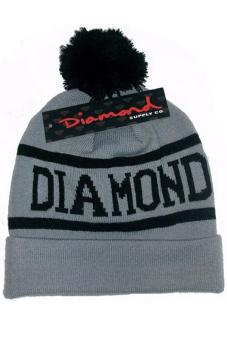 Harga Hang-Qiao Winter Warm Diamond Supply Co Beanie Hat Popular Knitted Cap Grey