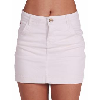 Harga Women High Waist, Four Inch Non-Denim Skorts (White)