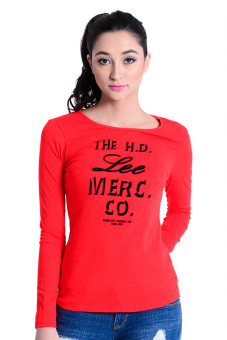 Lee Jeans Long Sleeve Tee (Fiery Red) Price Philippines