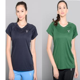Harga BUY 1 TAKE 1 Outperformer Active V Neck Shirt with Extra Stretch and Dryperform Technology (Navy and Dark Green)