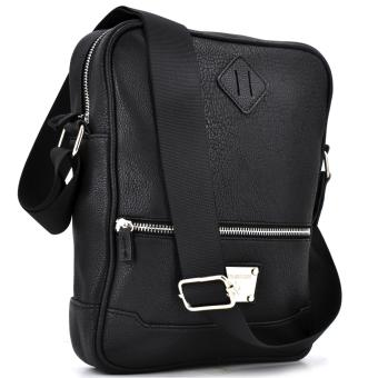 Fashionista Men Leather Cross Body Bag (Black) Price Philippines