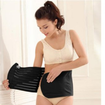 Harga Yabyab Store Tummy Band Postnatal Recovery Belt Girdle with Velcro closure, no Hook (BLACK)