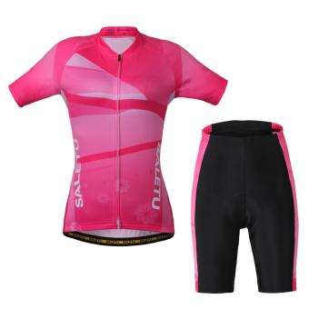 Harga Women Cycling Short Sports Clothing Bicycle Jersey - intl
