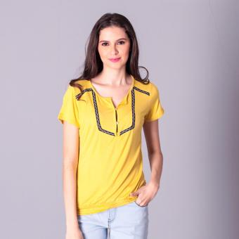 No Apologies Knitted Jap. Cotton Blouse S/S (Mustard) Price Philippines