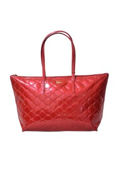 Harga Lacoste Quilted Horizontal Tote Bag (Red)