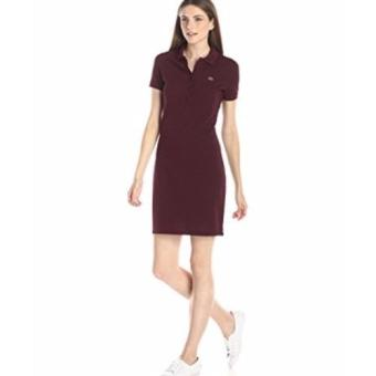 Harga Lacoste Classic Dress for women (Burgundy)