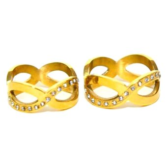 Harga Glamorosa Infinity Couple Rings (Gold)
