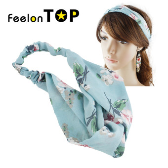 Harga Feelontop Beach Style Polyester Flower Elastic Headband for Women
