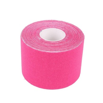 Harga 5cm*5m Exercise Bandage Cotton Waterproof Breathable Kinesio Tapes (Pink) - intl