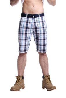 Harga Bobson Men's Low Waist Non-Denim Shorts (Blue)