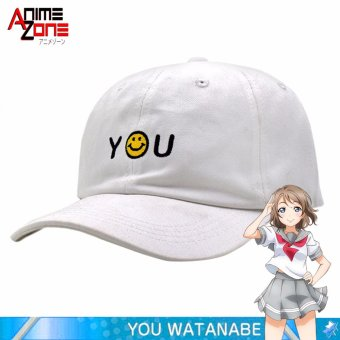 Harga ANIME Love Live! School Idol Sunshine YOU Yousoro Unisex Snapback Cap (White)